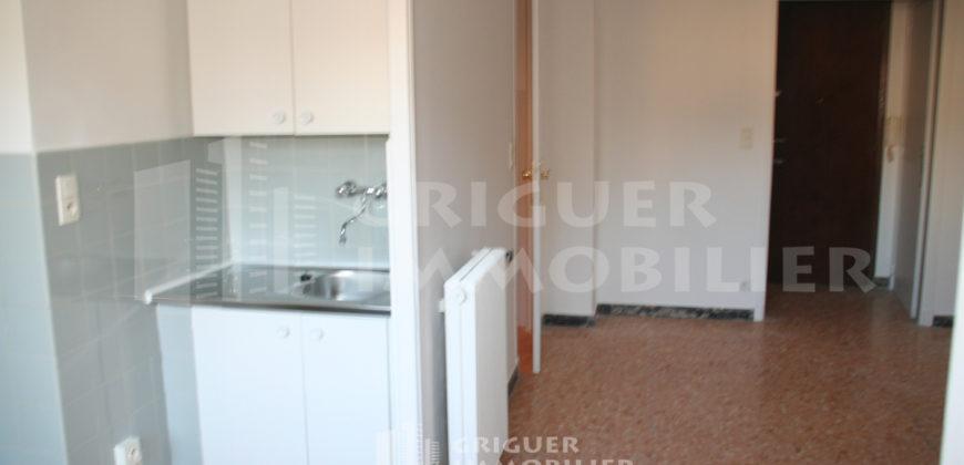 Location studio 26 m² en dernier étage proche Valrose
