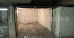 Location garage centre ville de Nice angle Italie Durante Auber