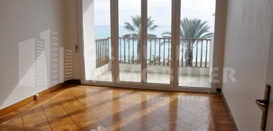 Location 3 pieces terrasse garage Promenade des Anglais