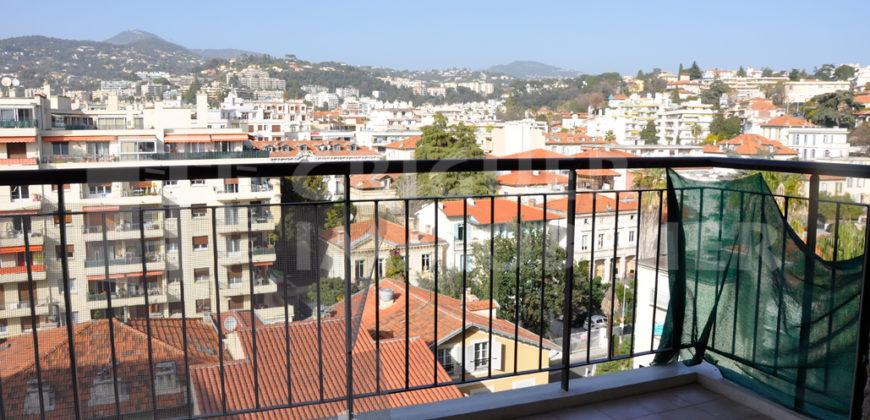 Location studio tout rénové en dernier étage avec terrasse, Nice Borriglione